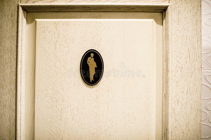 Mäns toaletttecken, toilettesymboler Informationstecken med en si royaltyfria foton
