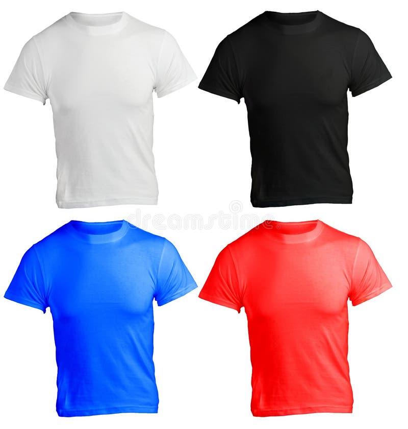 Mäns tom skjortamall i många färg royaltyfria foton