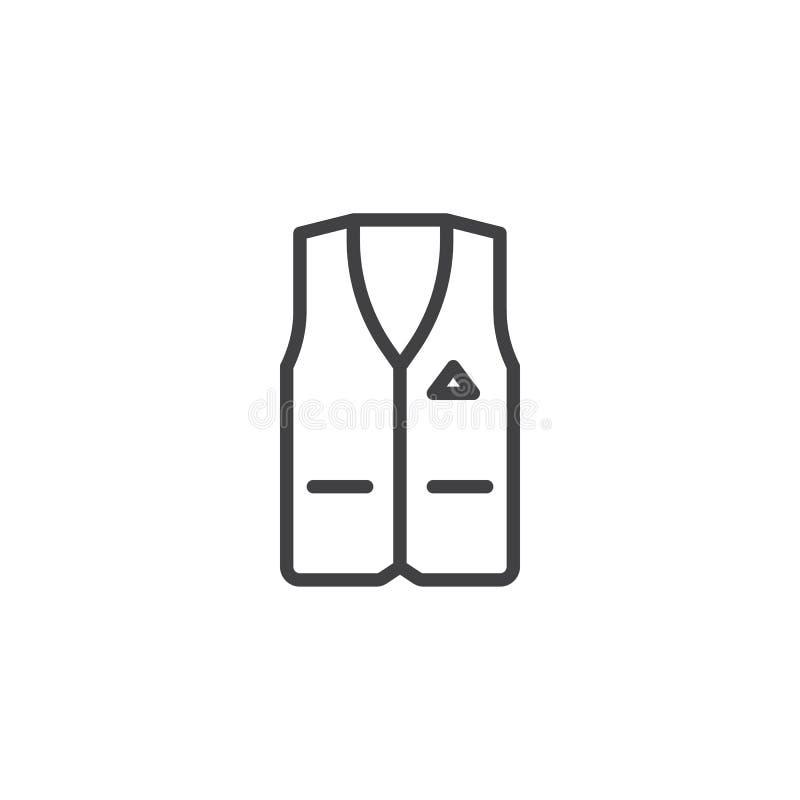 Mäns waistcoatlinje symbol vektor illustrationer