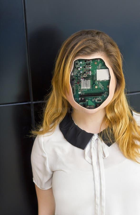 Mänsklig Cyborgrobot royaltyfri foto
