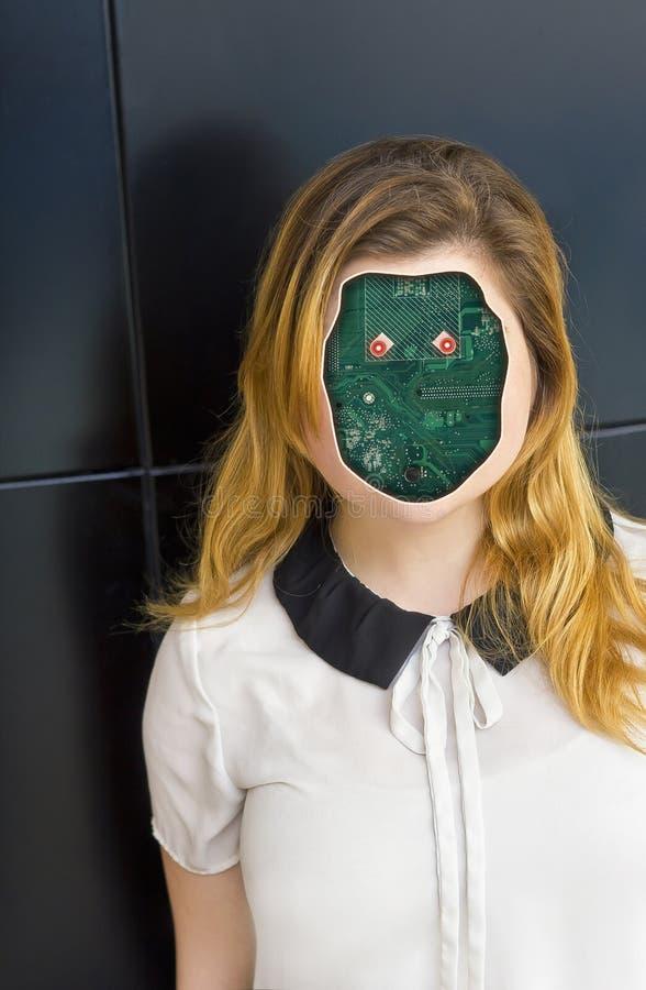 Mänsklig Cyborgrobot royaltyfria foton
