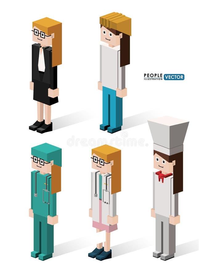 Mänsklig design stock illustrationer