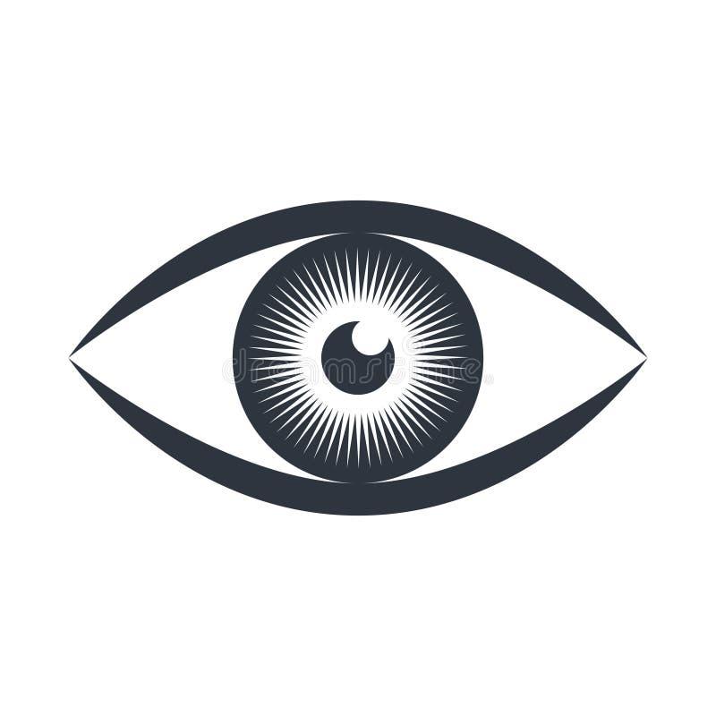 Mänsklig grafisk symbol för öga Siktsymbol stock illustrationer