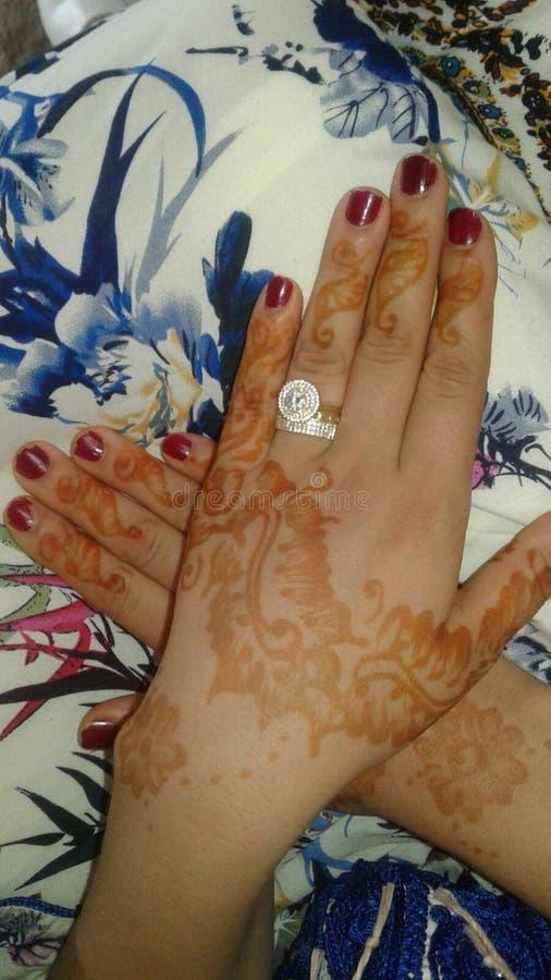 mänsklig hand för tatuering royaltyfri foto