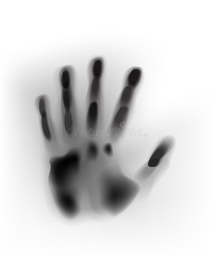 Mänsklig hand för vektorbegreppsmålarfärg eller blured handprint stock illustrationer