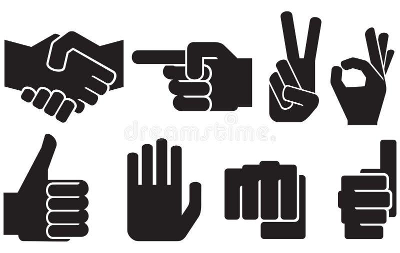 Mänsklig handteckensamling stock illustrationer