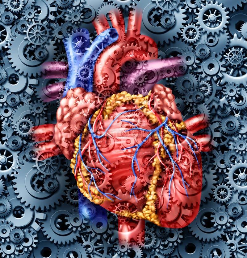 Mänsklig hjärtahälsa royaltyfri illustrationer