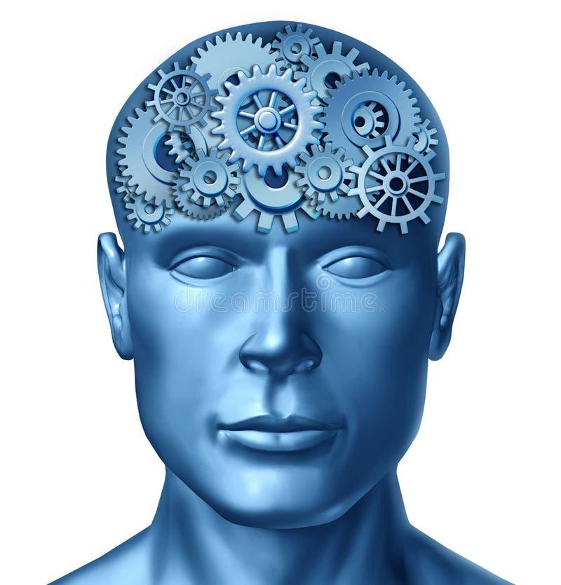 mänsklig intelligens stock illustrationer