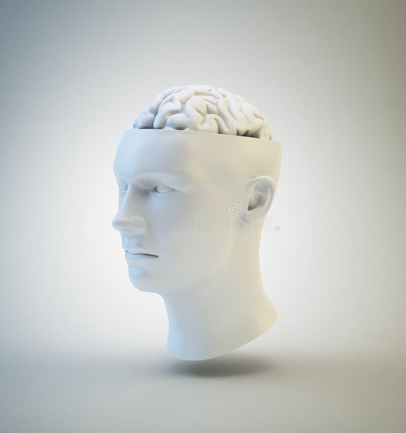 Mänsklig intelligens och psykologi stock illustrationer