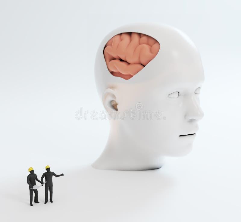Mänsklig intelligens och psykologisk utveckling stock illustrationer