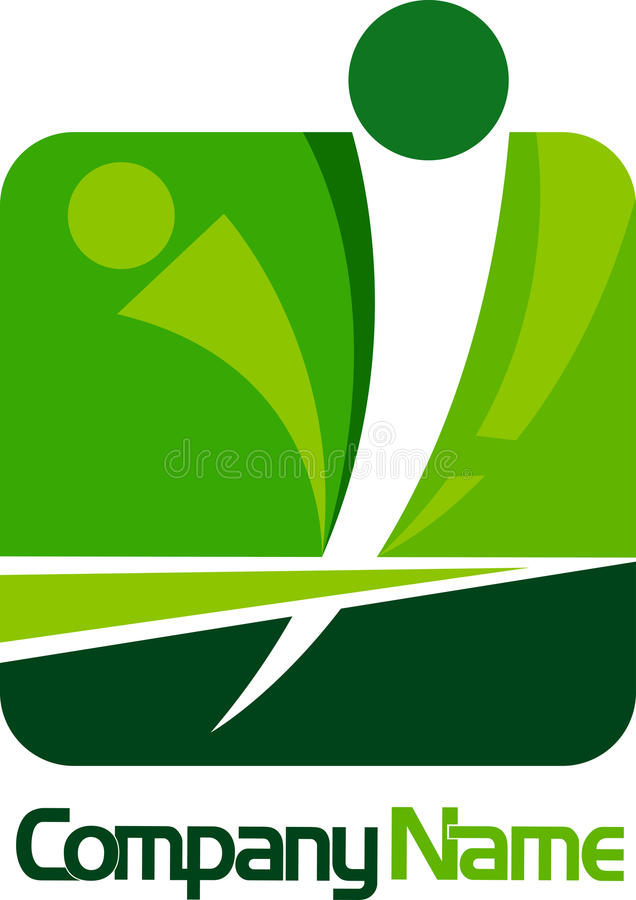Mänsklig Logofyrkant Arkivfoto