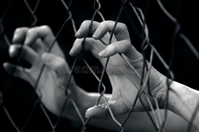 Mänsklig människohandel - begreppsfoto royaltyfria foton