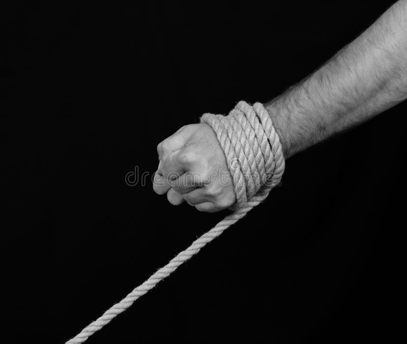 Mänsklig människohandel - begreppsfoto fotografering för bildbyråer