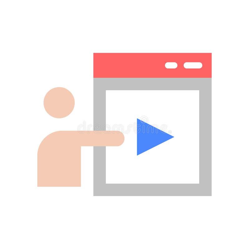 Mänsklig närvarande illustration för vektor för pictogram för videogem vektor illustrationer