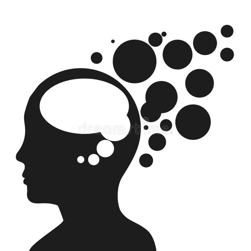 Mänsklig profil royaltyfri illustrationer