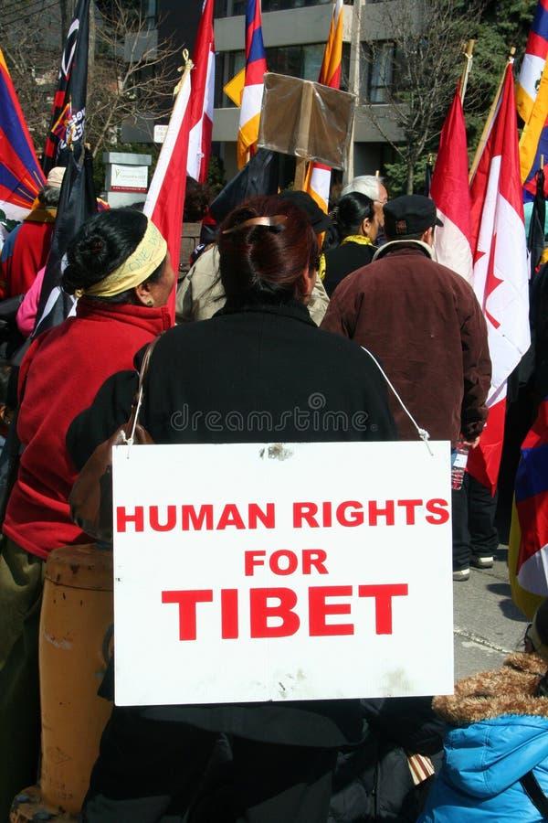 mänsklig rättighet tibet royaltyfria bilder