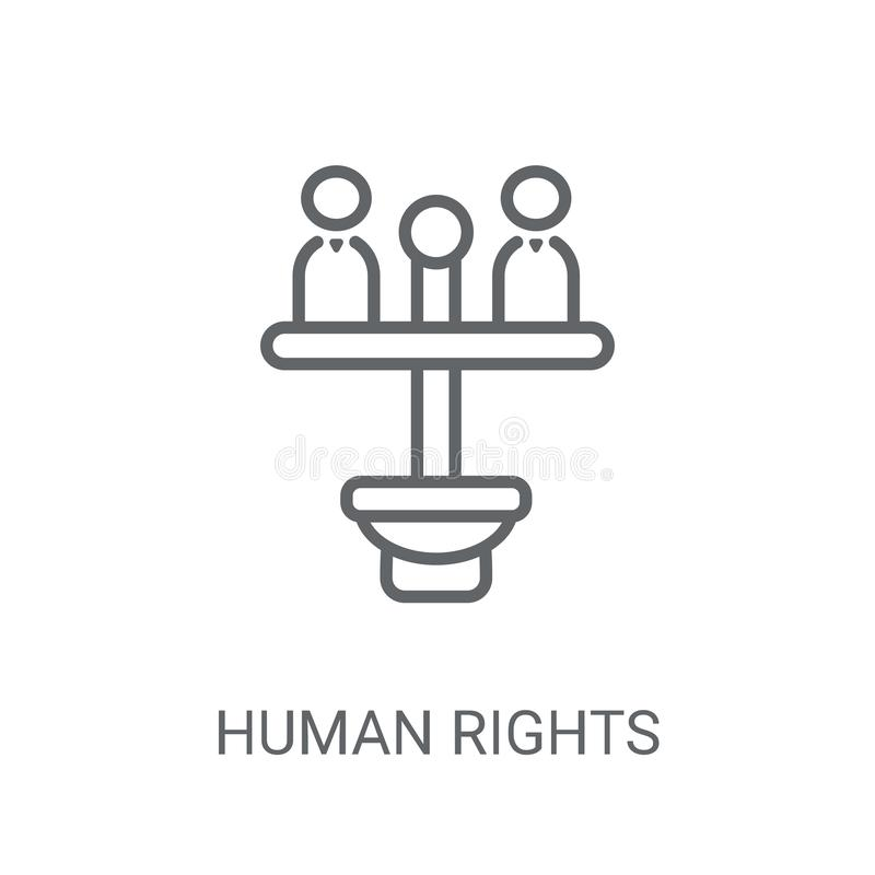 Mänsklig rättighetsymbol Moderiktigt mänsklig rättighetlogobegrepp på vit bac vektor illustrationer