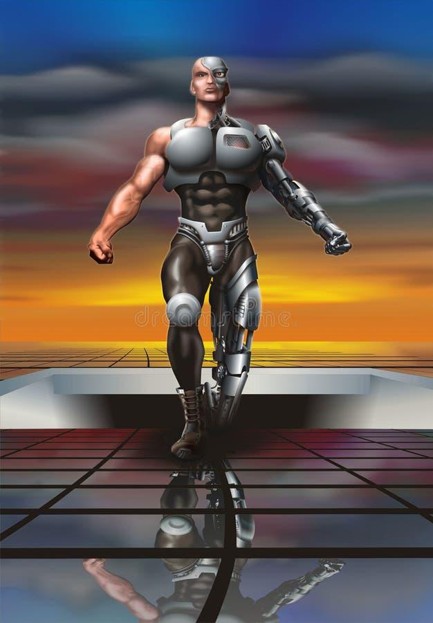 mänsklig robot royaltyfri foto