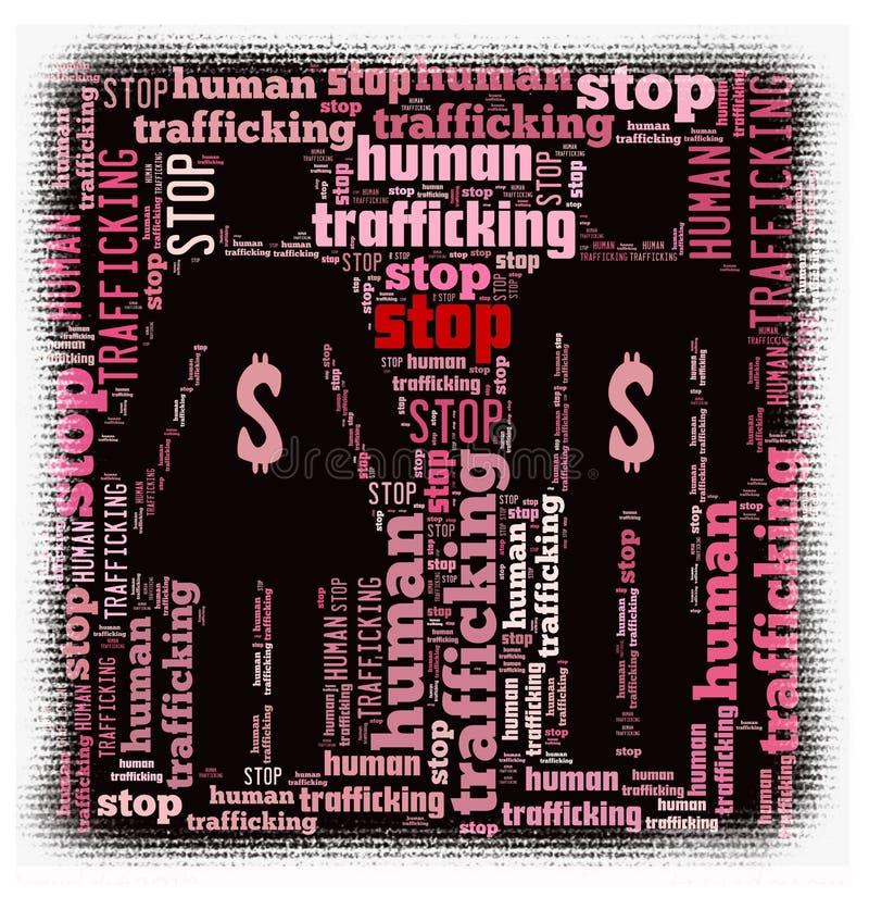 mänsklig stoppmänniskohandel stock illustrationer
