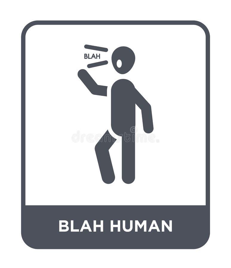 mänsklig symbol för blaj i moderiktig designstil mänsklig symbol för blaj som isoleras på vit bakgrund mänsklig modern vektorsymb stock illustrationer