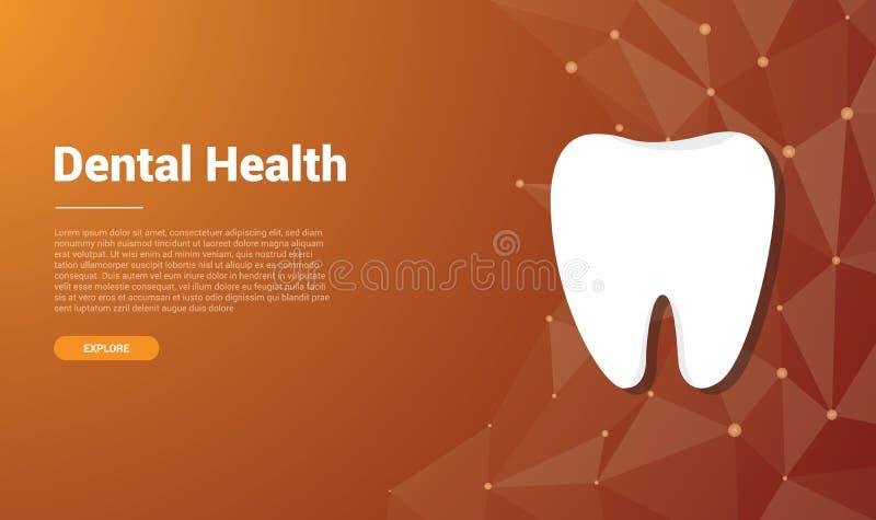 Mänsklig tand- design för tandmallbaner med fritt utrymme för text - vektor stock illustrationer