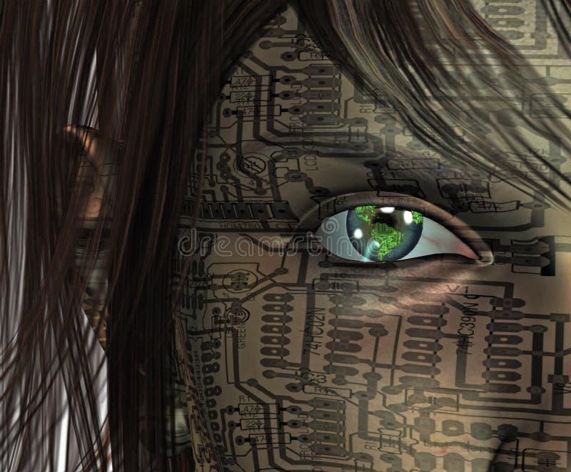 mänsklig teknologi vektor illustrationer