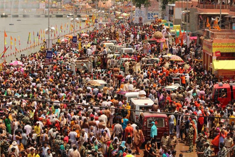 Mänsklig trafik arkivbilder