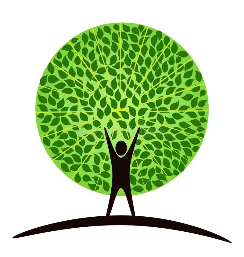 mänsklig tree vektor illustrationer