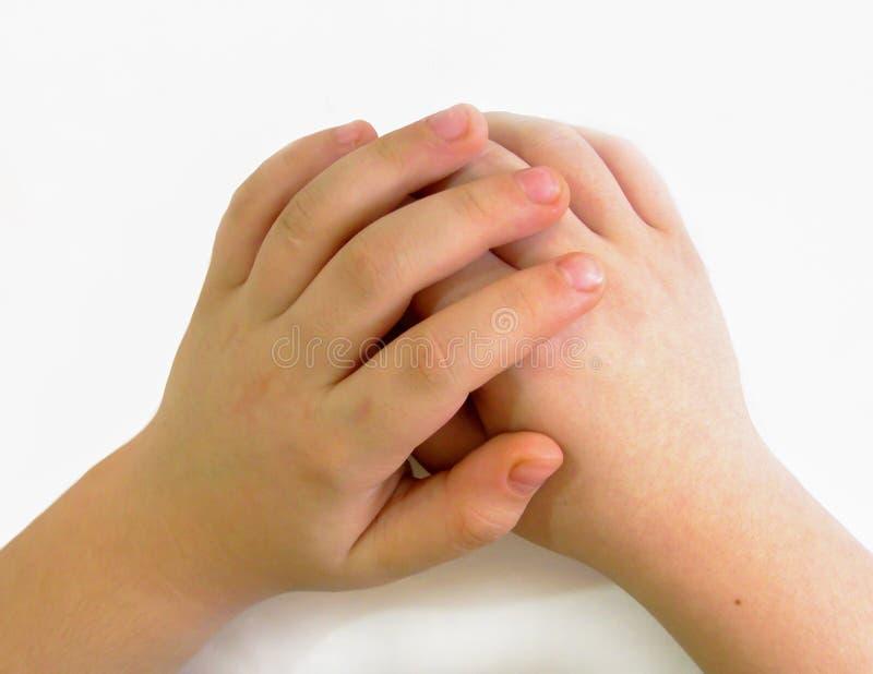 Mänskliga händer är en av de mest uttrycksfulla delarna av kroppen arkivbilder