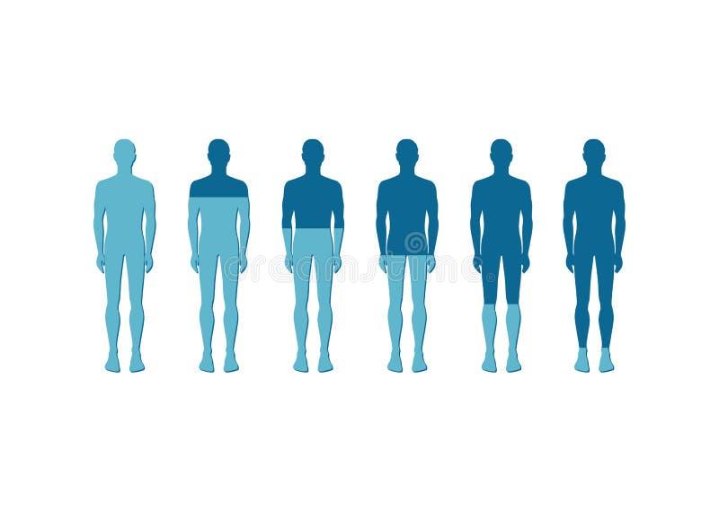 Mänskliga kvantitativa Rate Icon Vector Illustration vektor illustrationer