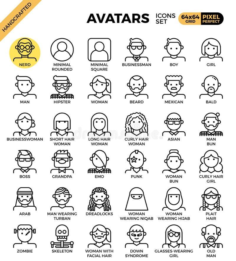 Mänskliga mångfaldavatarsymboler vektor illustrationer