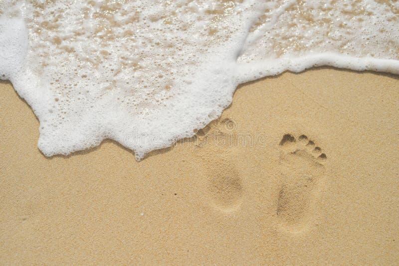 mänskliga sandtraces arkivbilder