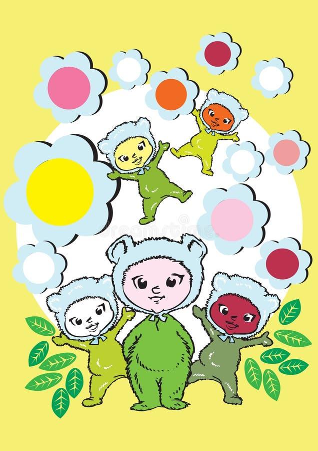 mänskliga serievärden för barn royaltyfri illustrationer