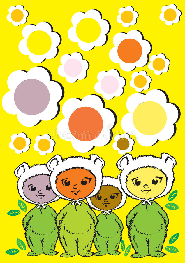 mänskliga serievärden för barn vektor illustrationer