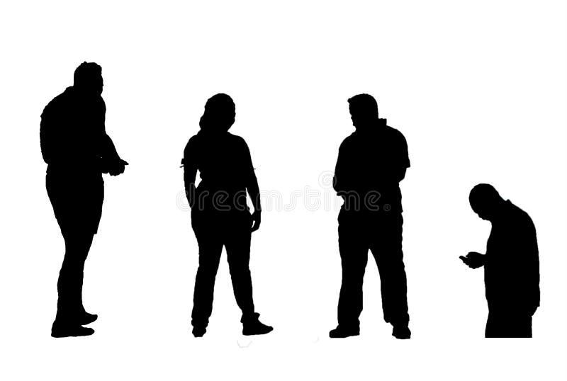 mänskliga silhouettes arkivbild