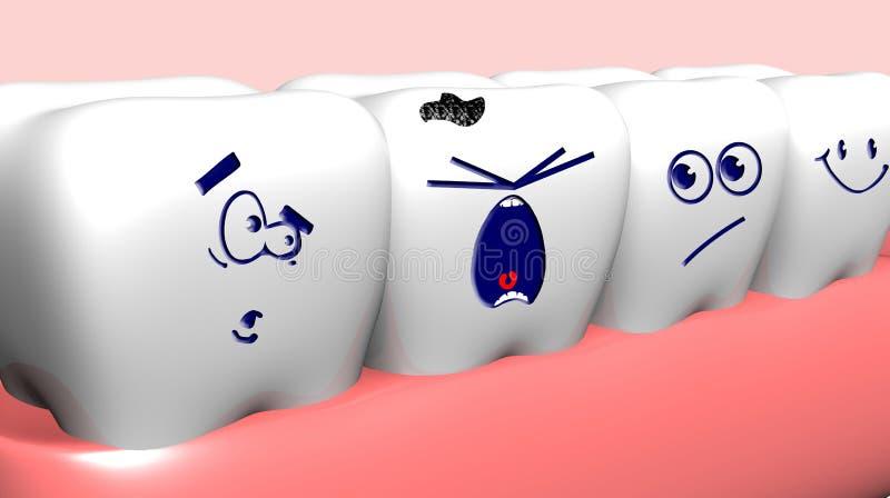 mänskliga tänder vektor illustrationer