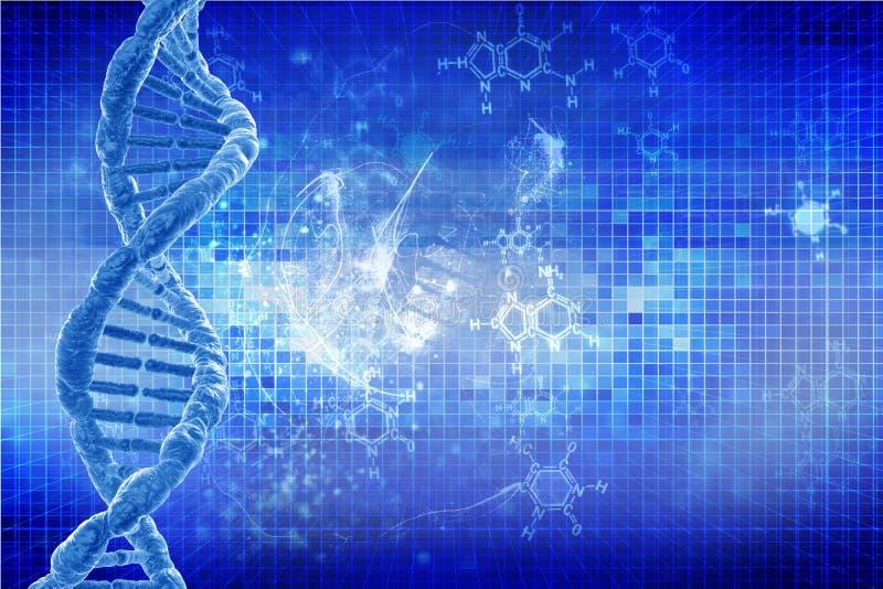 Mänskligt DNA stock illustrationer
