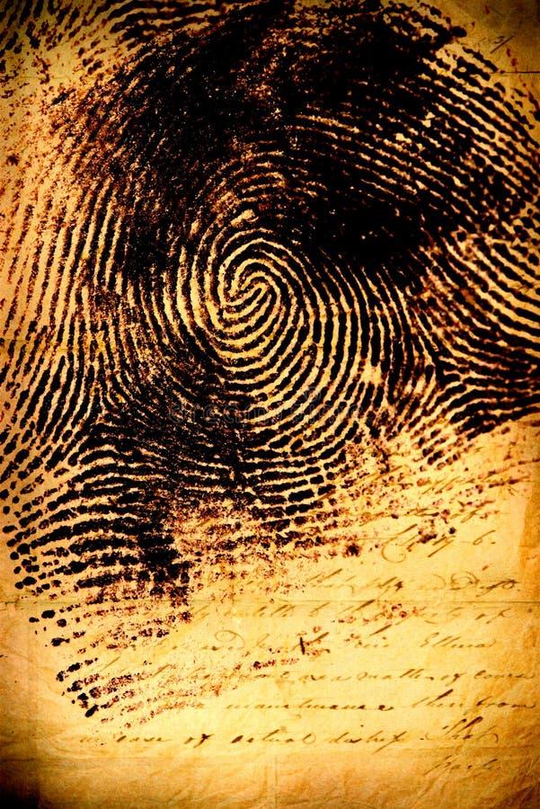 Mänskligt fingeravtryck arkivfoto