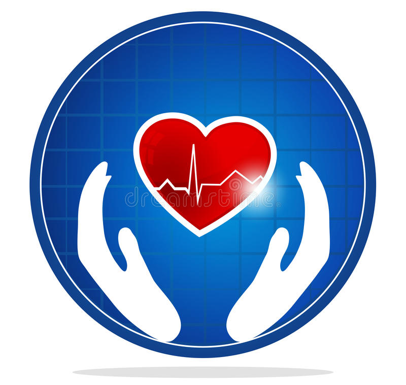 Mänskligt hjärtaskyddssymbol vektor illustrationer