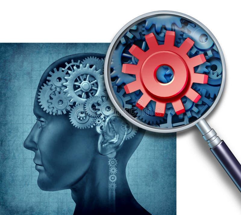 Mänskligt Intelligens-Forska royaltyfri illustrationer