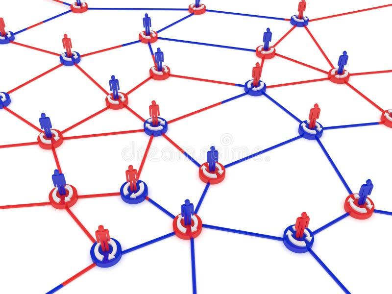 mänskligt nätverk royaltyfri illustrationer