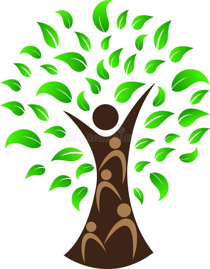Mänskligt träd vektor illustrationer