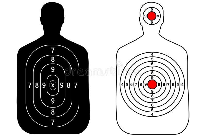 Mänskligt vapenmål på vit bakgrund royaltyfri illustrationer