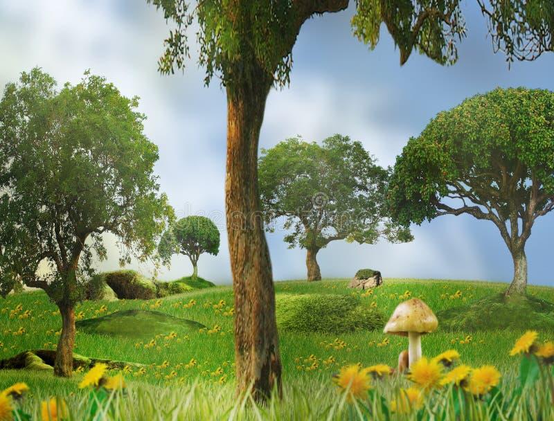 Märchen - Saisonlandschaft lizenzfreie abbildung