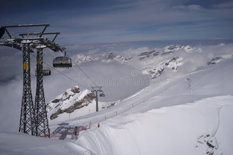 M?rchenland des Bergs Titlis lizenzfreies stockfoto
