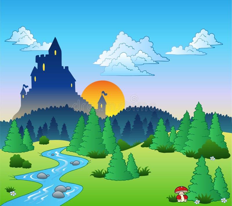 Märchenlandschaft 1 stock abbildung