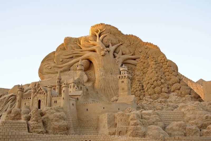 Märchenstadt vom Sand stockbild