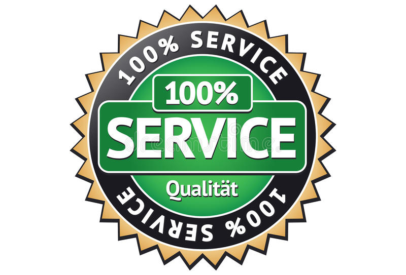 märk service vektor illustrationer