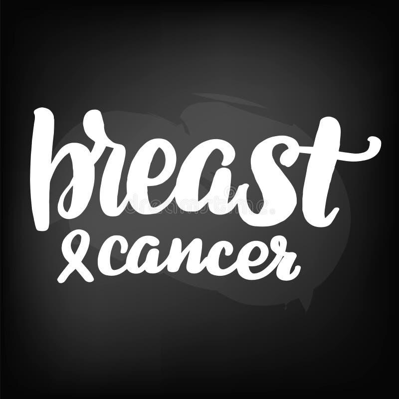 Märka bröstcancer stock illustrationer
