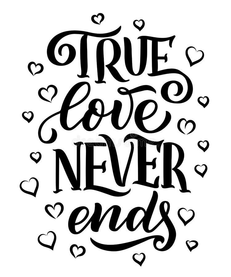 Märka citationstecken om förälskelse Hand dragen typografiaffisch För hälsningkort valentindag, bröllop, affischer, tryck eller royaltyfri illustrationer